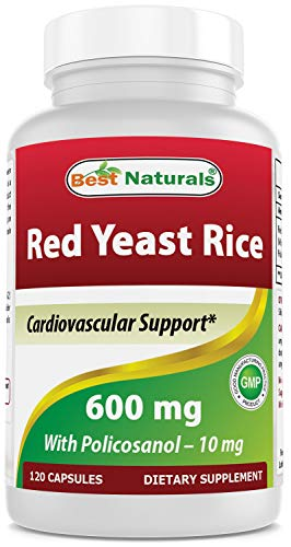Red Yeast Rice 600 mg with Policosanol 10 mg 120 Capsules by Best Naturals