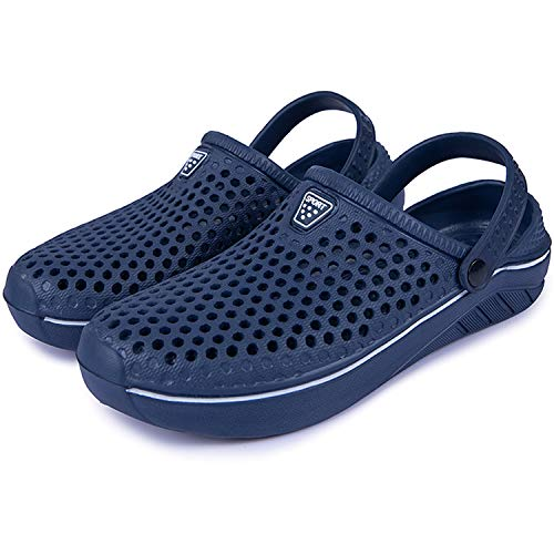 Brfash Hombres Zuecos Zapatillas de Playa Zapatillas de Jardín Respirable Malla Ahueca hacia Sandalias Clogs Verano Zapatos de Interior Exterior del Deslizador