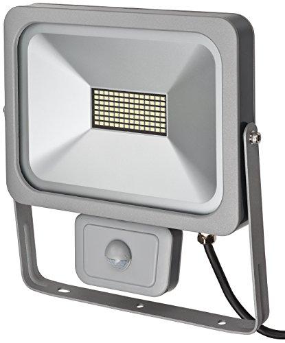 Brennenstuhl Slim LED Strahler / LED-Strahler außen mit Bewegungsmelder (Strahler zur Wandmontage, IP54, LED-Fluter 50W)