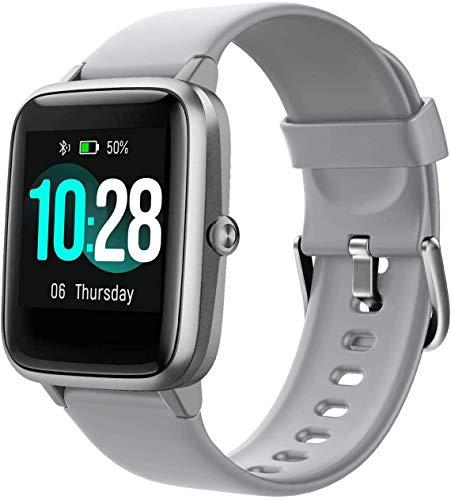 Smartwatch, Fitness Armband Tracker Voller Touch Screen 5ATM Wasserdicht Schrittzähler Uhr Damen Herren Kinder Aktivitätstracker mit Pulsuhren, GPS Armbanduhr Sportuhr Smart Watch für iOS Android