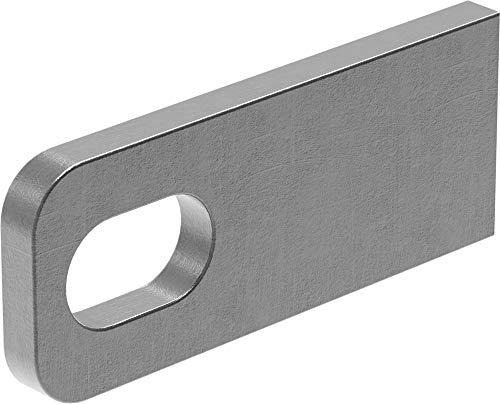 Fenau | Anschweißlasche | Maße: 100x40x8 mm | Stahl (roh) S235JR