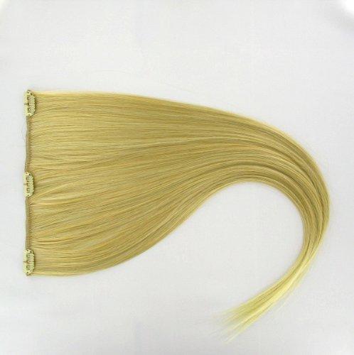 extensions à clip cheveux blond doré méché blond très clair 60 cm ref: 24bt613
