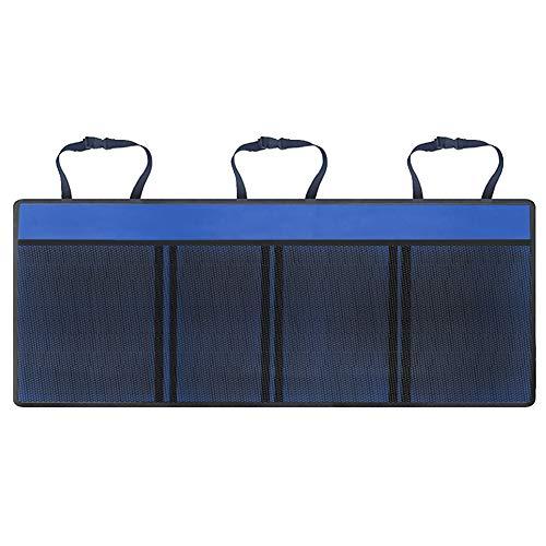 Gfyee Organizador para maletero de coche, organizador para coche, multifuncional, bolsa de almacenamiento con impermeable, universal, plegable, organizador para maletero de coche azul Talla:1 unidad