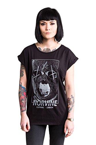 NORVINE Damen T-Shirt Mask, Größe:L, Farbe:Black