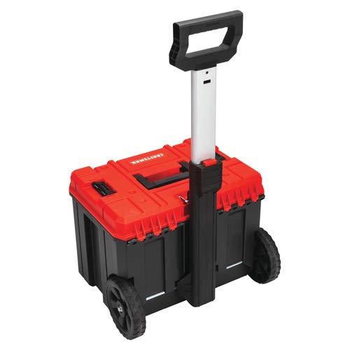 CRAFTSMAN Versastack System 20-in Red Plastic Wheeled Lockable Tool Box