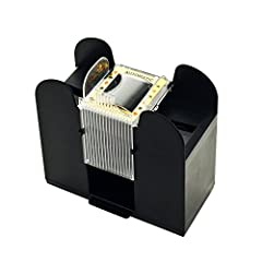 MUTIPLE USE – This card shuffler is flexible and works with standard poker-sized cards or narrow bridge-style cards. Ideal for both professional and beginner card dealers suffering from arthritis or dexterity complications, The shuffler offers an eas...