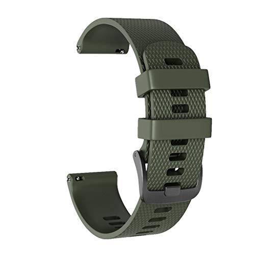 Correa de Reloj para Garmin Vivoactive 3 - Correa de Silicona de Diamante Pulsera - Reemplazo Ajustable Banda de Reloj Accesorios Watch Band para Hombre Mujer Baohooya