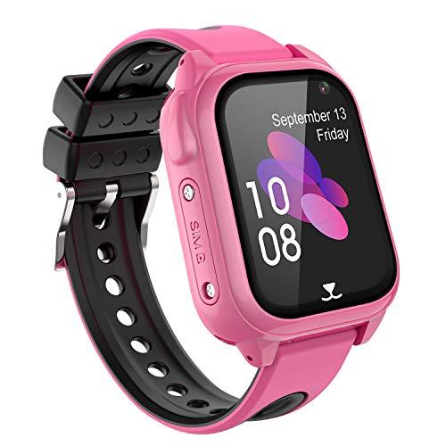 Kinder Smart Watch GPS Tracker, Wasserdichtes Smartwatches Telefon für Kinder Mädchen Jungen Urlaub Geburtstagsgeschenk, Kinder GPS Watch Touchscreen mit SOS Telefonanruf Voice Chat Locator