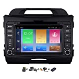 Car GPS Radio for Kia Sportage 2011 2012 2013 2014 2015 Auto DVD Player Head Unit in Dash Navigation Android 8.1 Oreo Double 2 Din Stereo 7 Inch Touch Screen with Backup Camera