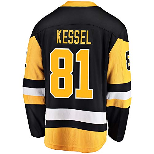 Outerstuff Phil Kessel Pittsburgh Penguin #81 Black Yellow Home Youth Premier Jersey (Large/X-Large 14-20)