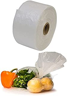ROLL of 750 15-inch x 20-inch Clear Plastic Produce Bag on a Roll for Food Storage, Fruits, Vegetables, or Bread, Self Opening Produce Grocery Bags.285 MIL