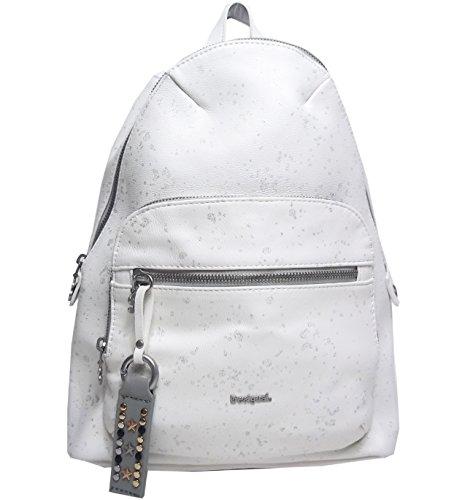 Desigual 18SAXPD0-1001 - Zaino per la scuola METALLIC SPLATTER LIMA ca. 8 l, colore: Bianco