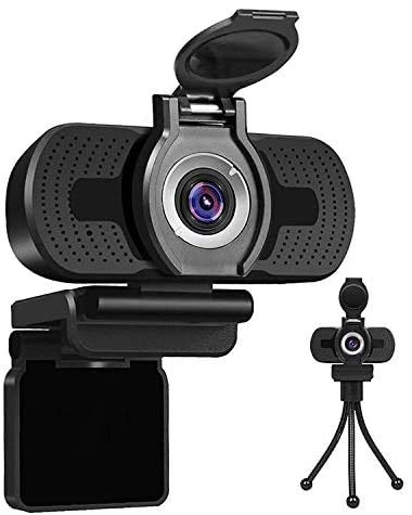 LarmTek 1080P Full HD Webcam with Webcam Cover,Computer Laptop PC Mac Desktop Camera for Conference and Video Call,Pro Stream Webcam with Plug and Play Video Calling(Webcam stand included)