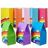 Future life 24 pcs Rainbow Party Favor Paper Bags,...