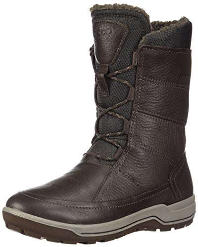 ECCO Women's Trace Lite High Snow Boot, Coffee Nubuck, 40 M EU (9-9.5 US)