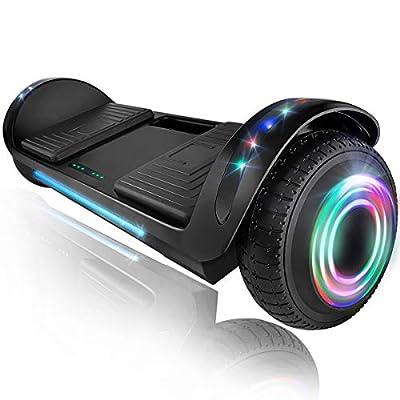 """XPRIT 6.5"""" Hoverboard Self-Balance Two Wheel w/Built-in Wireless Speaker (Black, 6.5'' Wheel)"""