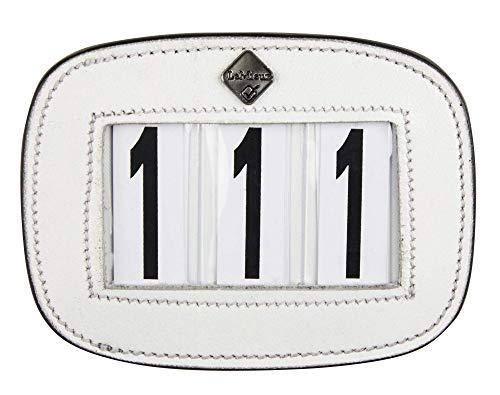 LeMieux Saddle Number Holder Square White Plain Competiton Holders, Unisex-Adult, One Size