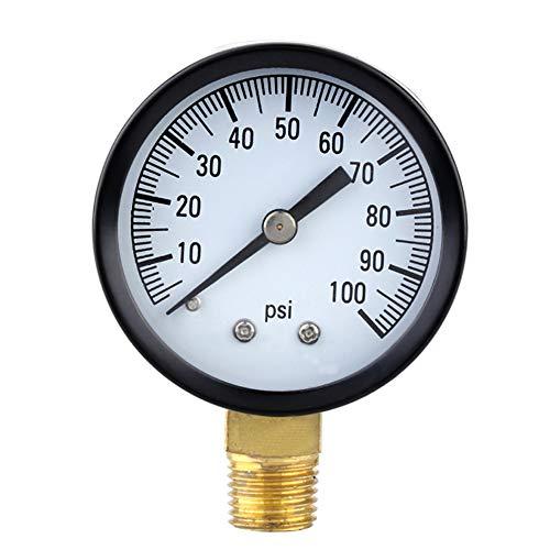 0-100PSI 1/4 '' Well Pump Pool Spa Filter Wasserdruckmesser Messingbuchse Anschluss