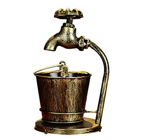 Wasserpfeife Aschenbecher Eisen Eimer Industrie Retro Table Wohnzimmer Öffentliche Plätze Dekorative Bad Toilette Schreibtisch Aufbewahrungsbox Für Das Rauchen,Gold