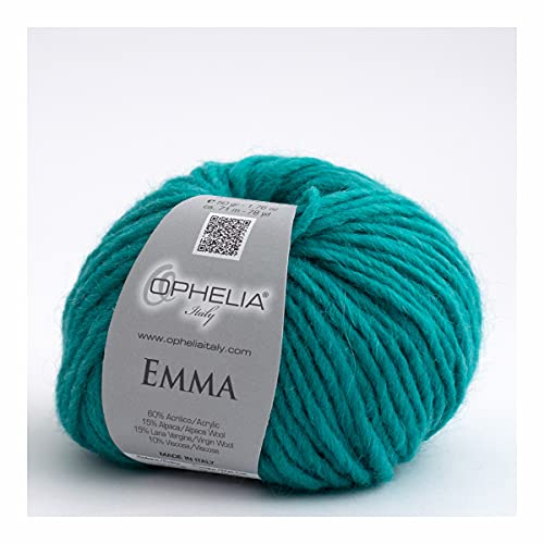 Ophelia Italy Emma 029 - Ovillos de lana de 50 g de hilo mecha 15 % de alpaca 15 % de lana virgen,...