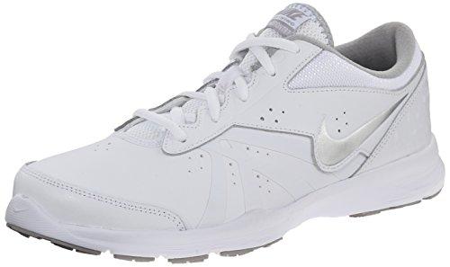 NIKE Women's Core Motion TR 2 Cross Training Shoe, White/Metallic Silver/FLT Silver, 6 B(M) US