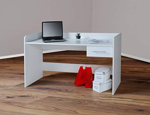 Möbeldesign Team 2000 4510-1- Kinderschreibtisch Schreibtisch, höhenverstellbar, 116cm breit (weiß)