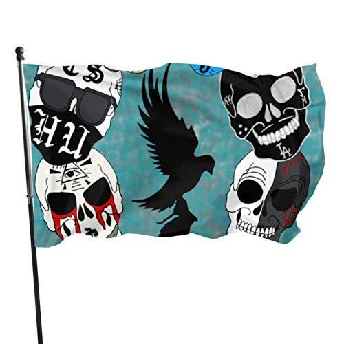 Hollywood Undead Sugar Skulls by Ashesnightmare D8 Banderas Decorativas al Aire Libre Bandera Decoraciones de Mesa 3x5 Pies Colores Vibrantes Calidad Poliéster y Arandelas de latón