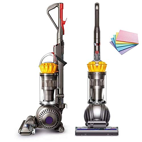 (RENEWED!) Dyson UP13 Ball Total Clean Upright Vacuum, Self-Adjusting Cleaner Head Ball Technology, Whole-Machine HEPA Filtration, Instant Release Wand Hygienic Bin Emptying + iCarp Sponge Cloth