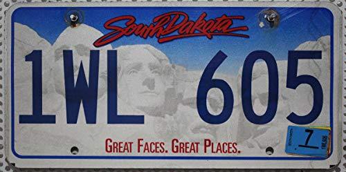 USA Nummernschild SOUTH DAKOTA , Kennzeichen US License Plate , Motivschild