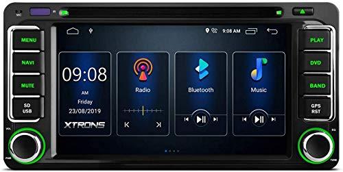 FGVBC 6.2 Pulgadas Android 10.0 Radio estéreo para automóvil Reproductor de DVD Doble DIN Soporte de navegación GPS CarAutoPlay Salida RCA Completa Bluetooth 5.0 WiFi 4G 2K Video Universal