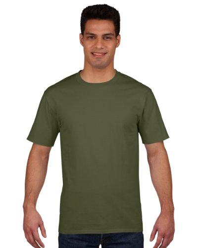 Gildan Premium T-Shirt aus ringgesponnener Baumwolle. Gr. xl, military green