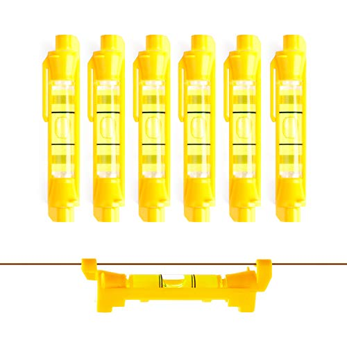 DOWELL Hanging Bubble Line Level Mini Spirit Line Level 6-Pack for Building Trades Bricklaying Tiling Engineering Surveying Metalworking and Measuring HY030637