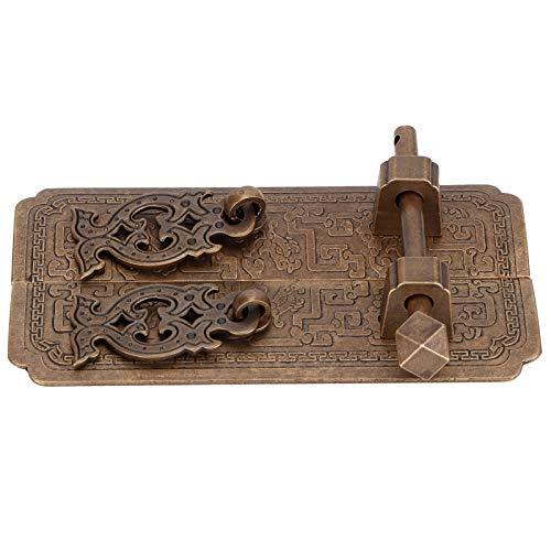 Tirador chino, juego de tiradores de puerta de cobre antiguo, accesorio de armario para armarios, armarios, cocinas