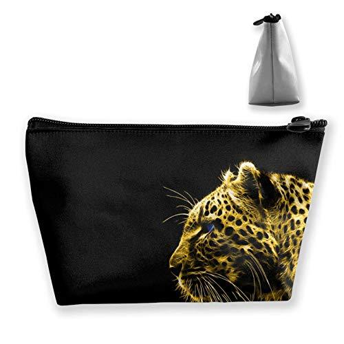 wenxiupin Gold Cheetah Leapard Give Me A Home Where The Buffalo Roam Storage Bag Organizer Portable Gift For Girls Women