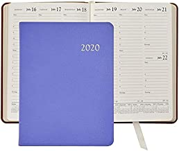 2020 Lilac Goatskin Leather 9in Desk Diary by Graphic Image™ - 7x9