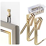 Picture Hangers, Hommie 100Pcs 30lbs Picture Hanging Kit with Nails, Professional Picture Hanging Hooks for Wooden/Drywall for Canvas, Office Pictures, Clock, House Decoration