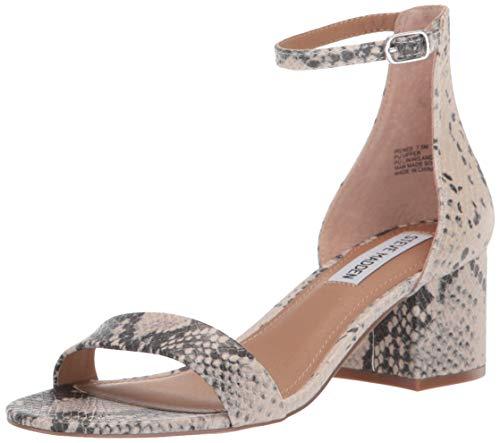 Steve Madden Women's Irenee Heeled Sandal, Natural Snake, 6