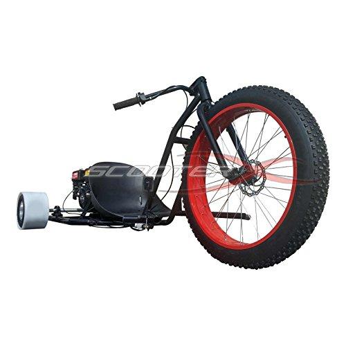 Motorized Drift Trike 6.5 HP 40 MPH - RED Wheel [533]