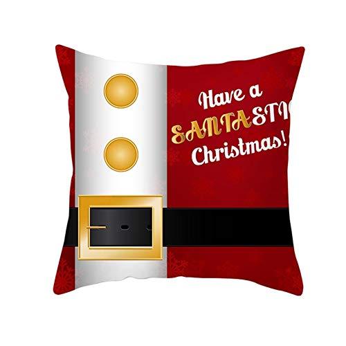 MF.CHAMA Cojines Decorativos para Sofa, Polister Fundas De Almohada Navideas, Rojo Dorado Negro (Style 31-40x40cm)