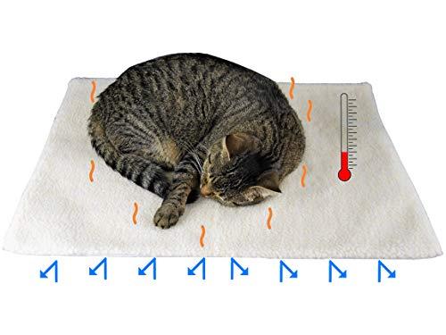 Kira Gates Selbstheizende Decke für Hunde und Katzen | Die bessere Alternative zur klassischen Heizdecke | Waschbar