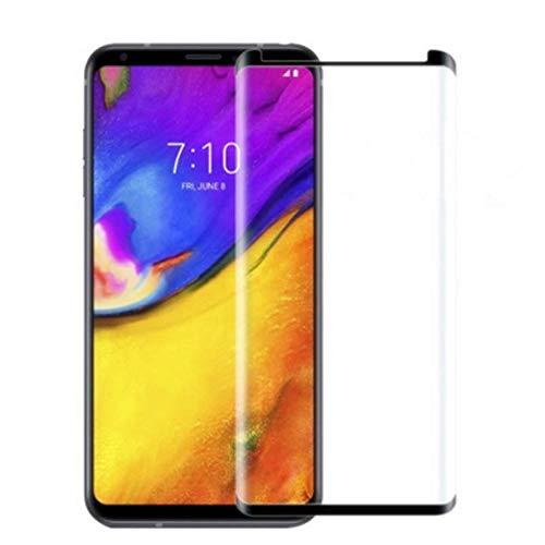 VIESUP Displayschutzfolie für LG V35 Thinq aus gehärtetem Glas, 3D-gebogen, kratzfest, ultraklar, Displayschutzfolie für LG V35 (2 Stück)