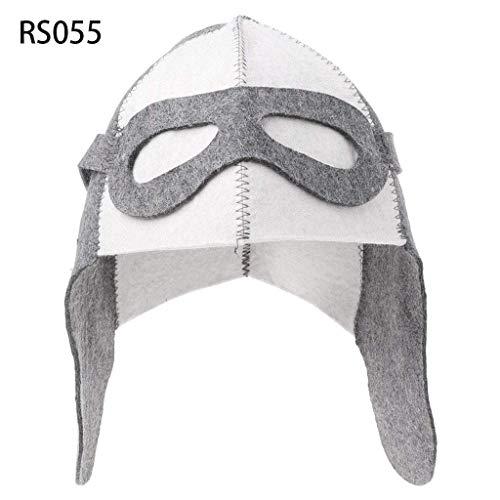 SimpleLifeウールフェルトサウナ帽子風呂ハウスヘッド保護のための反熱ロシアのバニヤキャップ
