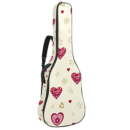 Bolsa para guitarra, tela Oxford impermeable, 2 bolsillos para guitarra acústica clásica de 40 41 42 pulgadas, Vector-Love