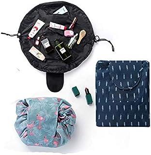 النسخة الكورية من حقيبة مستحضرات التجميل للسفر المحمولة ذات السعة كبيرة تخزين حقيبة مستحضرات التجميل أثرية