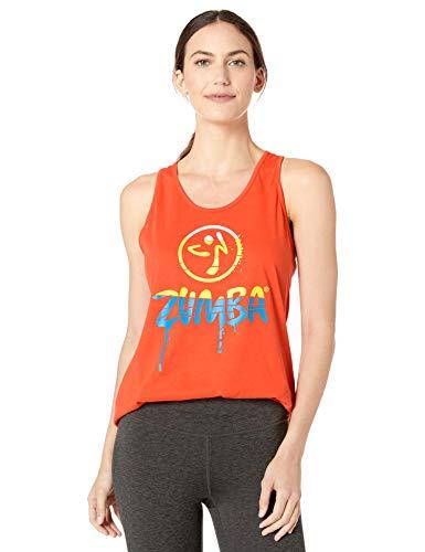 Zumba Women Fitness-mit Grafikdruck Activewear Loses Workout Tank Top, Cherry, Small Tanktops