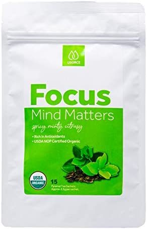 Certified Organic Mind Matters Tea Delicious Green Tea with Added Brain Boosting Ingredients product image