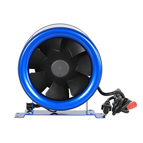 """Hyper Fan HGC701405 Digital Mixed Flow Fan In And Out Room System 8"""" - 710 CFM Blue"""