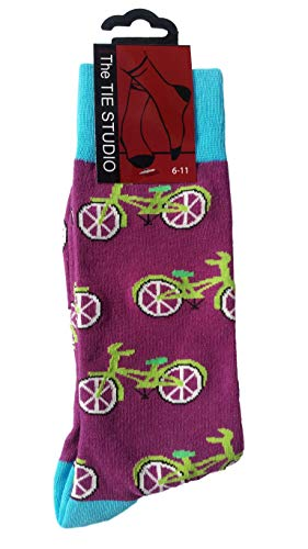 Cycles on purple Unisex Novelty Ankle Socks Adult Size 6-11