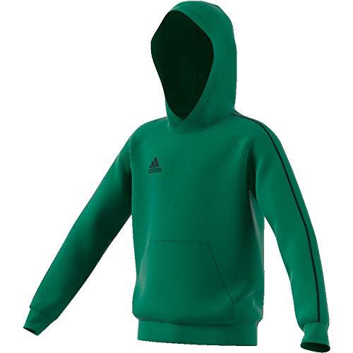 adidas Kinder Core 18 Hoody, bold green/Black, XL (Manufacturer size:164)