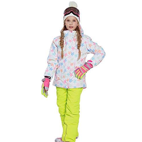 Meisjes Ski Bibs en Ski Jas Winter Hooded Waterdichte Ski Suit Sneeuwpak